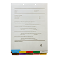 Physician Credentialing Divider Set Bottom Tab