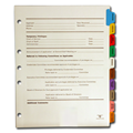 Physician Credentialing Dividers Set (5 holes on left)