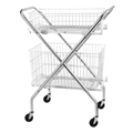 Utility Cart with Wire Baskets