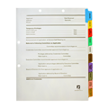 Physician Credentialing Dividers Hole Punched Two Areas