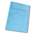 US Trade Servicemark Application  Folder, Light Blue