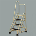 File Room Ladder Four Step with Handrail