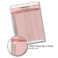 HIPAA Privacy Sign In Sheet